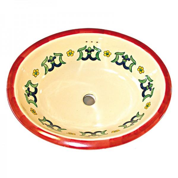 Waschbecken LILIA FONDO BLANCO, Keramik