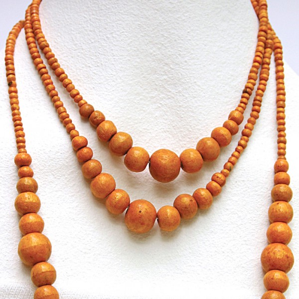 Halskette PINUS, Holz