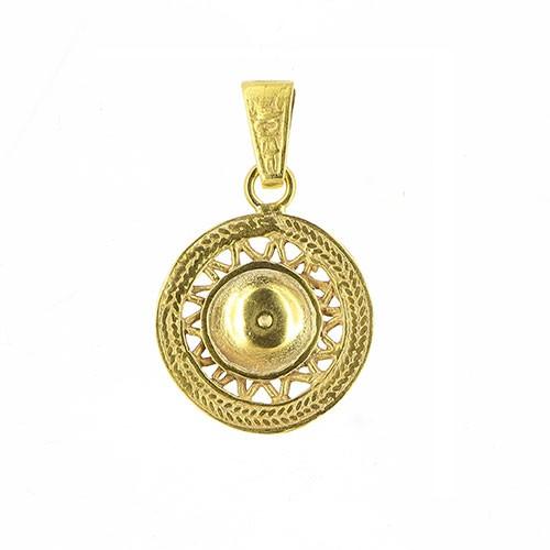 Anhänger SOLAYA, 925er Silber, vergoldet