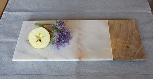 Servier-/Schneidebrett CHOP, Marmor/Mangoholz