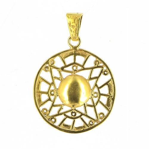 Anhänger DONOMA, 925er Silber, vergoldet