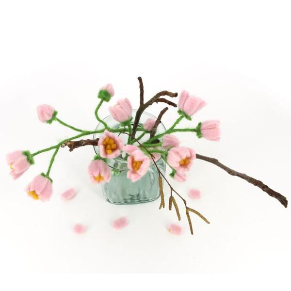Blume KIRSCHBLÜTEN, Filz