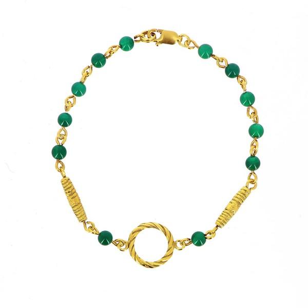 Armband MONA, 925er Silber, vergoldet