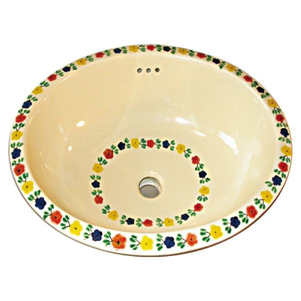 Waschbecken BLUMENKREIS, Keramik