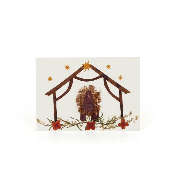 Mini-Grusskarte KRIPPE, Wildblumen