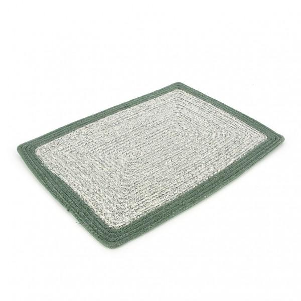 Tischset GRÜN, Jute und Baumwolle