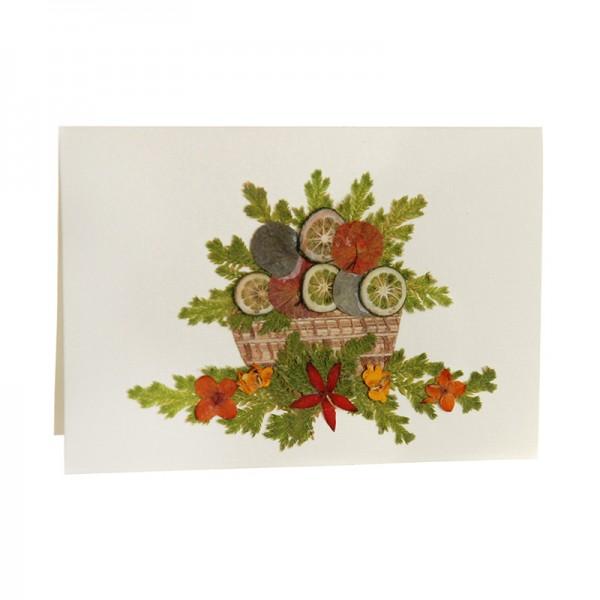 Mini-Grusskarte CITRUS, Wildblumen