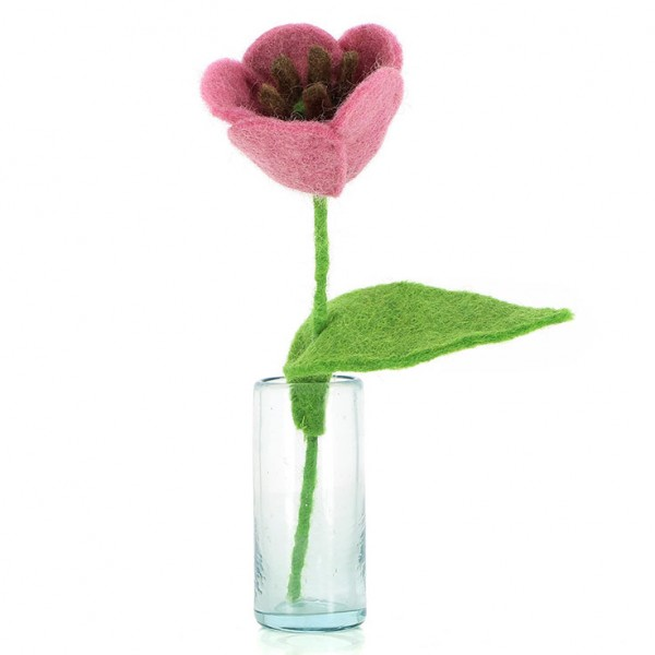 Blume TULPE ROSA, Filz