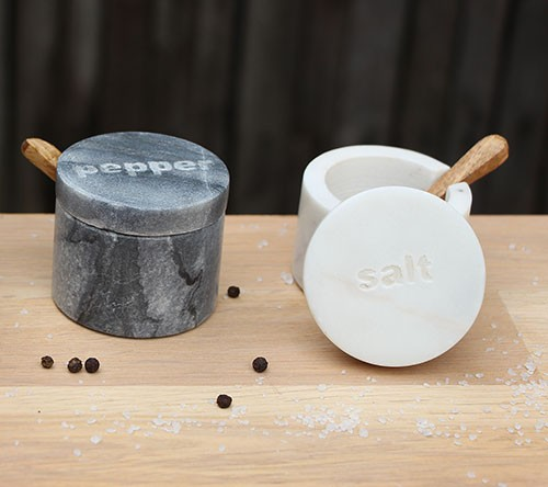 Döschen SALT & PEPPER, Marmor